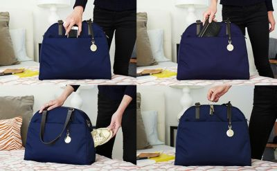 The O.M.G. in Navy - Lightweight Overnight Travel Bag, Laptop Tote, Gym Bag - Lo & Sons | THE O ...