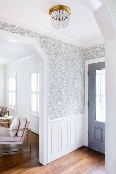 25+ best ideas about Foyer wallpaper on Pinterest   Hallway wallpaper, Grass cloth wallpaper and ...