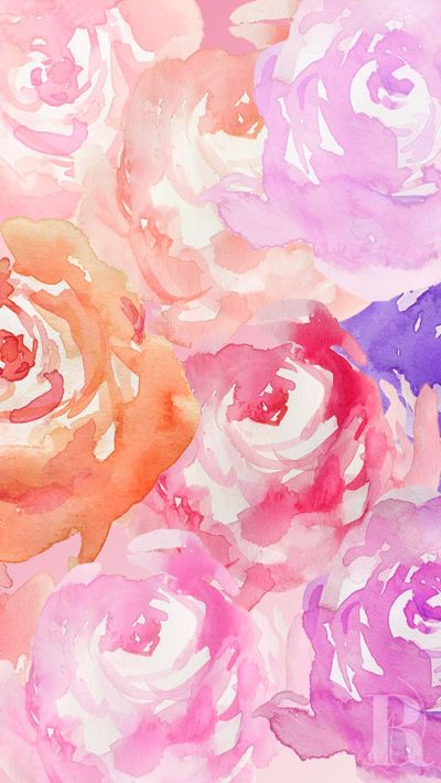 roses wc | Screen Savers | Pinterest | Watercolour, iPhone wallpapers and Watercolor rose