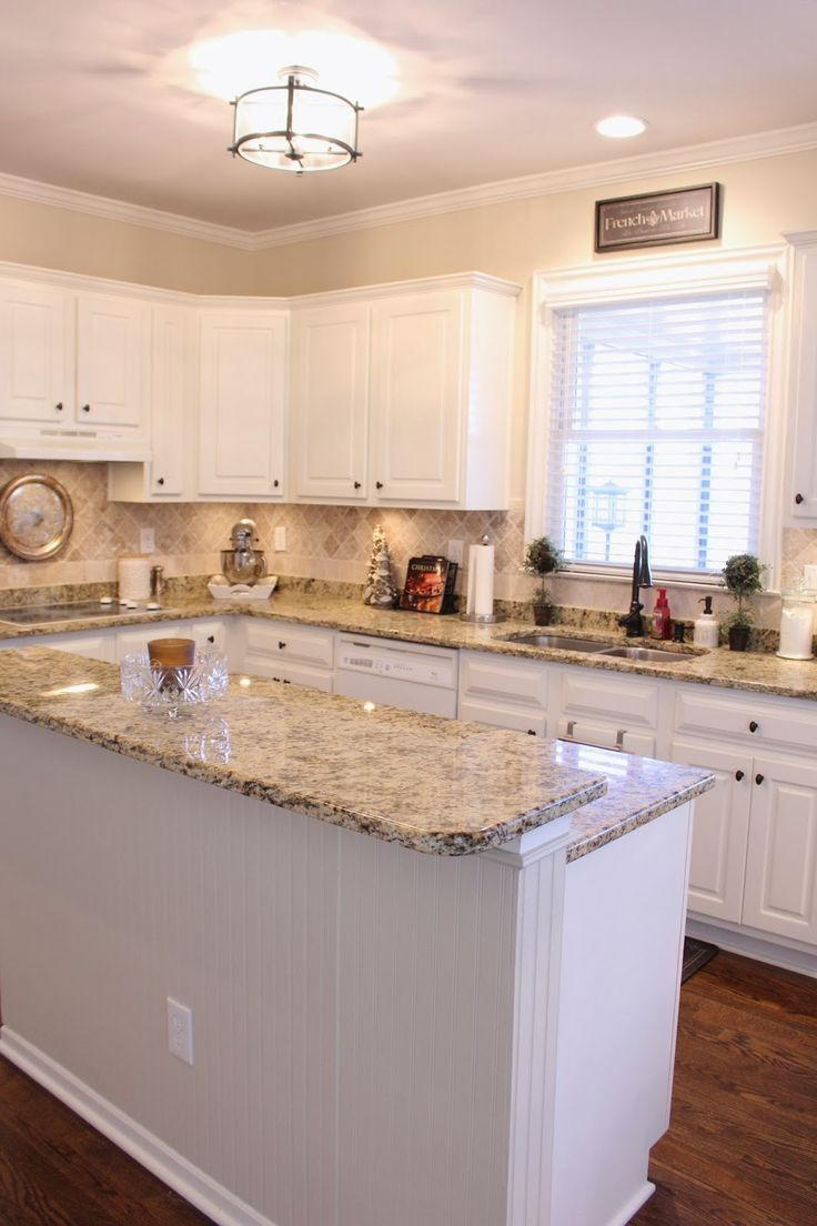 beige kitchen paint beige kitchen cabinets TiffanyD Some progress in the kitchen Benjamin Moore Clay Beige paint and