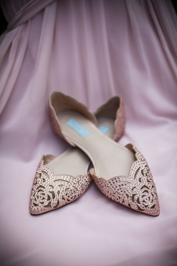 wedding shoes betsey johnson wedding shoes Pink Gold Country Club Vows Gold FlatsGold StudsBridal ShoesWedding Shoes OrsayBetsey JohnsonFlat