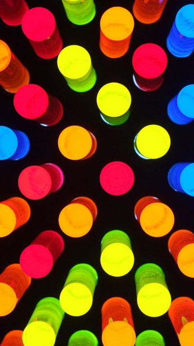TAP AND GET THE FREE APP! Pattern Colorful Shining Shapes Round Bright Lights HD iPhone 6 ...