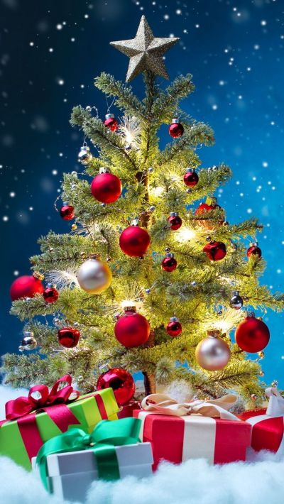 Tap image for more Christmas Wallpapers! Christmas Tree - iPhone wallpapers @mobile9 | iPhone 6 ...