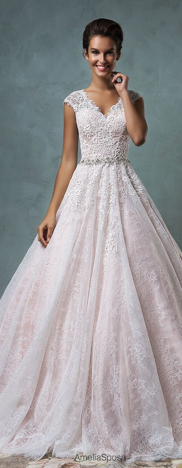 robe longue pas cher light pink wedding dress Amelia Sposa Wedding Dresses Part 2 Pale Pink
