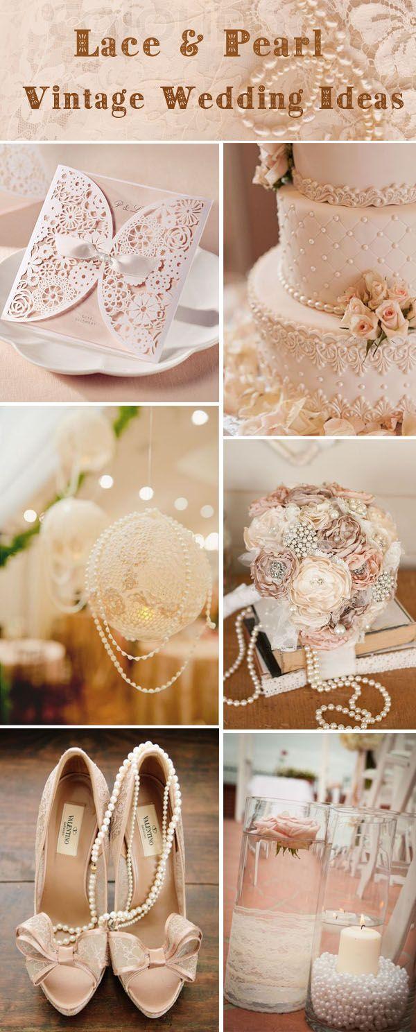vintage wedding theme vintage wedding ideas vintage lace and pearl wedding ideas and wedding invitations