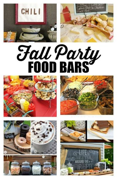 Fall Dinner Party Ideas | Outdoor parties, Fall party foods and Party food bars