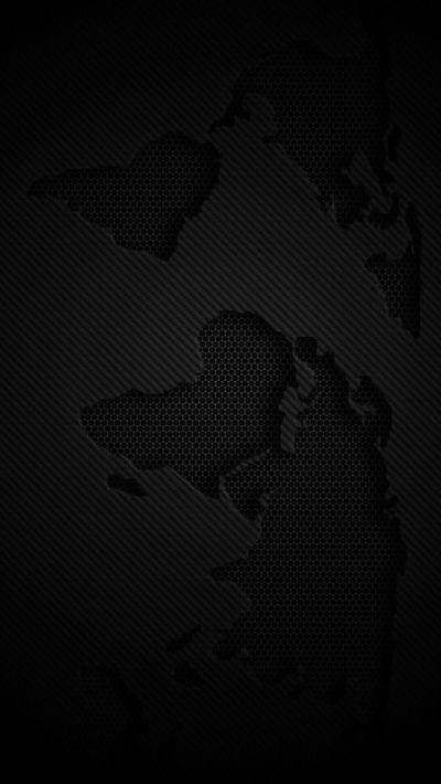 World Map Dark #iPhone #5s #Wallpaper   Choose more in :http://www.ilikewallpaper.net/iphone-5 ...