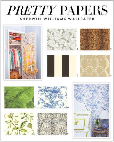 Sherwin Williams EasyChange Wallpaper . | New Bathroom | Pinterest