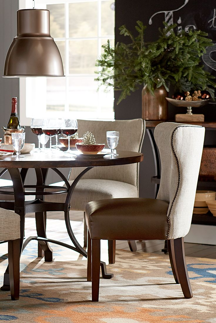rustic gets refined by havertys furniture havertys kitchen tables The pieces in our Copper Canyon dining tables and chairs act as wonderful anchors for any