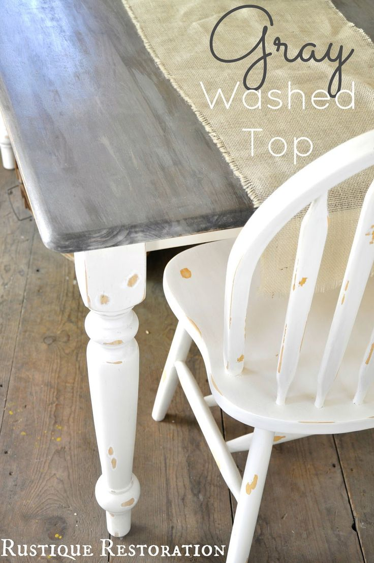 grey table white kitchen table 25 Best Ideas about Grey Table on Pinterest Grey stained wood table Grey stain and Grey house furniture