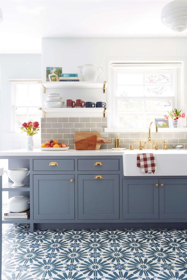grey kitchen floor blue cabinets kitchen 25 best ideas about Grey Kitchen Floor on Pinterest Grey kitchen tile inspiration Grey flooring and Grey tile floor kitchen
