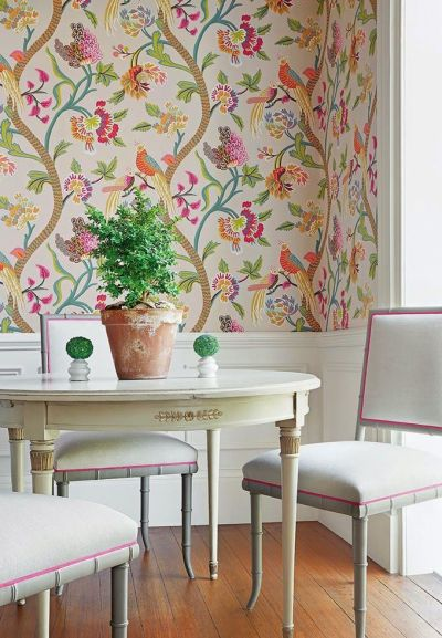 Thibaut - Caravan collection | Dining Rooms | Pinterest | Tropical wallpaper, Turquoise and Room ...