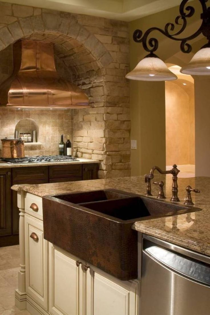 double kitchen sink granite kitchen sinks Kitchen Fine Looking Copper Kitchen Sink Double Bowl Hammered Copper Kitchen Sink And Faucet