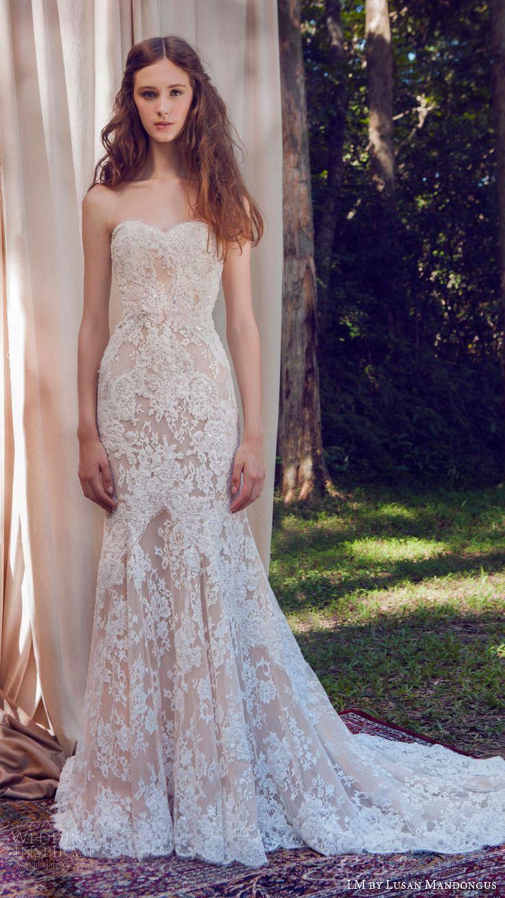 lusan mandongus wedding dresses blush colored wedding dress LM by Lusan Mandongus Wedding Dresses