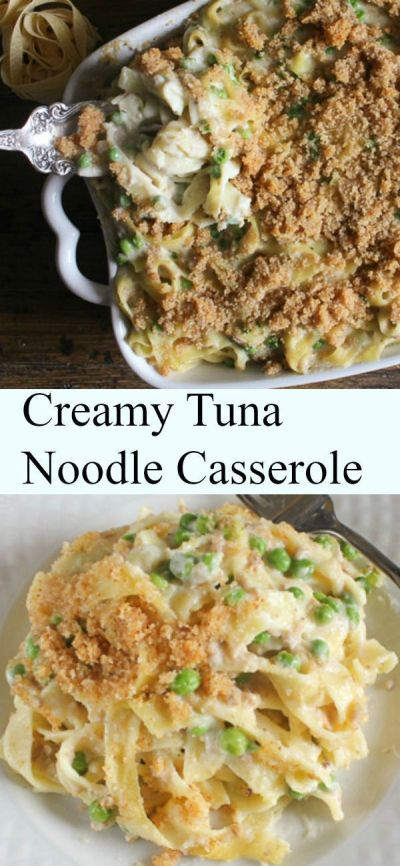 Creamy Tuna Noodle Casserole, quick, easy and so creamy, a ...