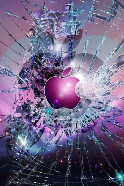 8 best images about Apple!!!!!! on Pinterest | Shattered glass, Signs and Black n white