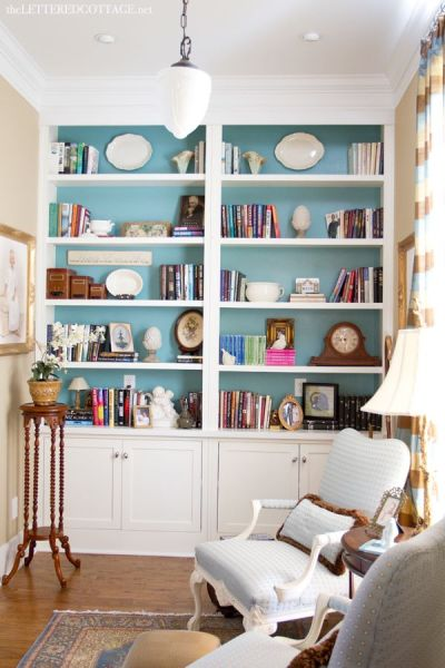 Cottage Library | Study | The Lettered Cottage | Bookcases | Bookshelves | Bookcases | Pinterest ...
