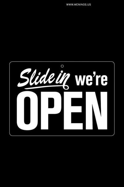 Slide in we're open iphone wallpaper | Iphone Lock Screen | Pinterest