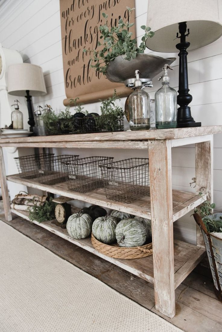 tv console tables kitchen console table DIY Farmhouse Dining Room buffet Could be a great TV console sofa table