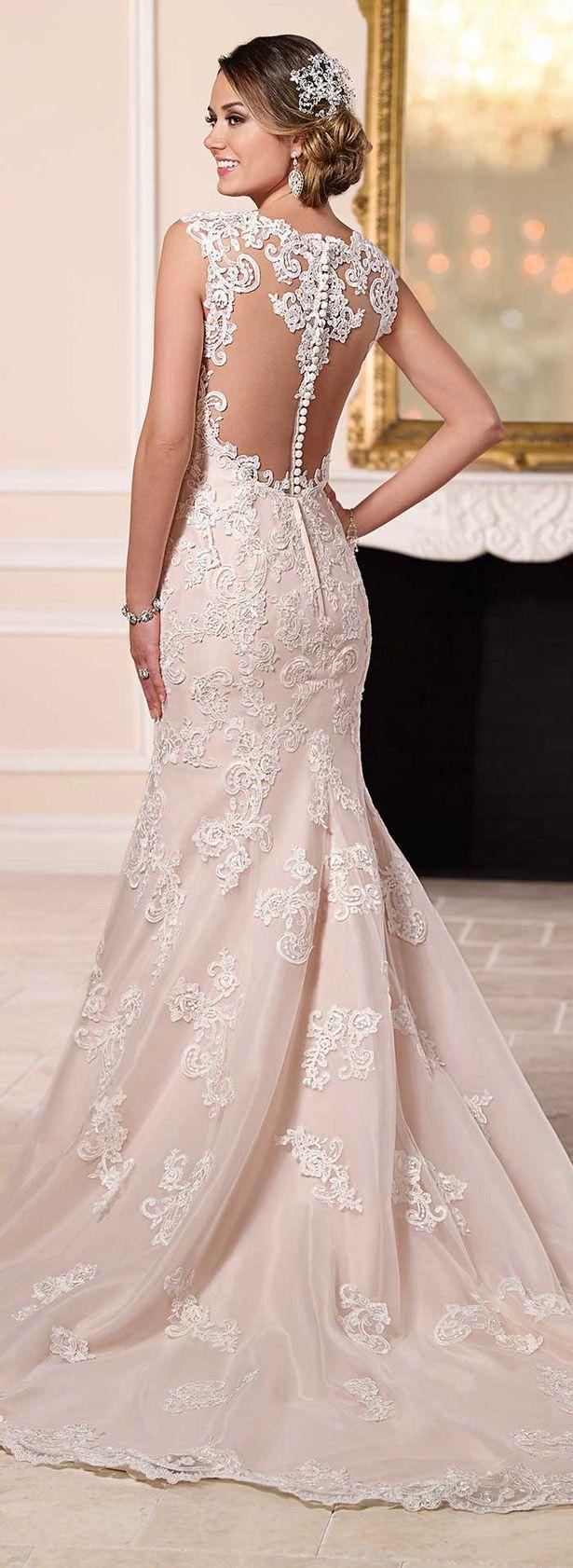 blush wedding dresses blush colored wedding dresses Stella York Spring Bridal Collection Blush Colored Wedding DressStella