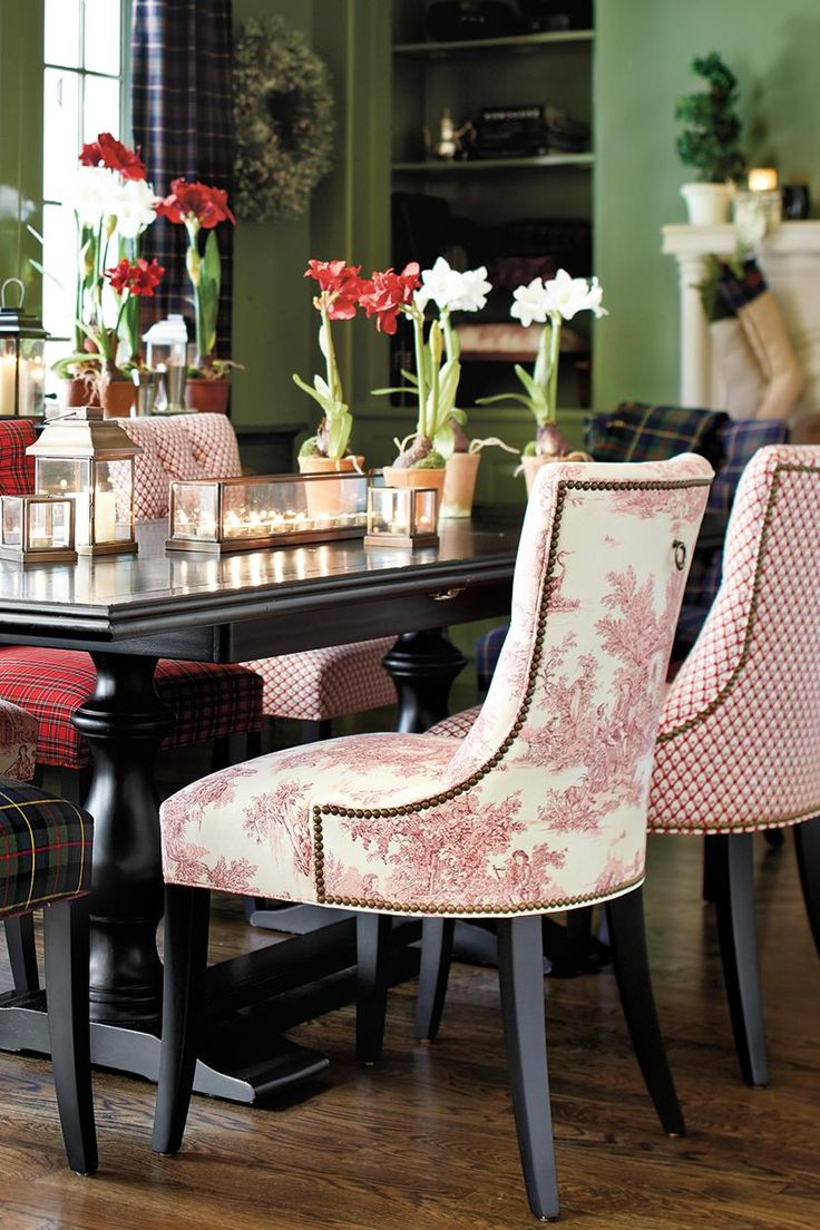red dining chairs red kitchen chairs Toile dining room chairs always have loved toile in my dining room