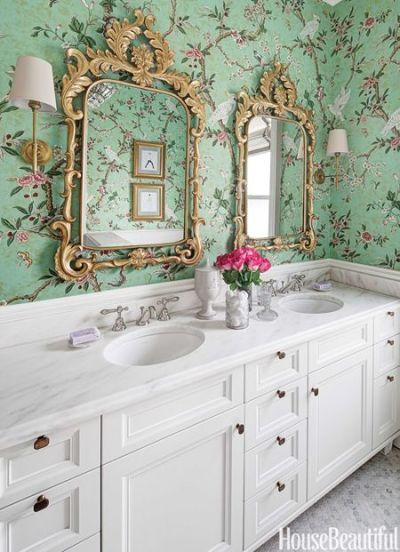 1000+ ideas about Bathroom Wallpaper on Pinterest   Bathroom, Americana Bathroom and Small ...