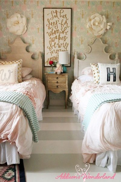 Best 20+ Girls Bedroom Wallpaper ideas on Pinterest ...
