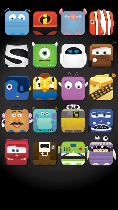 Disney Characters icon frame iPhone 5 wallpaper - Cute! | Illustrations | Pinterest | Disney ...