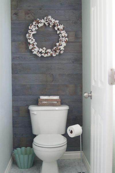 25+ best ideas about Bathroom Accent Wall on Pinterest | Plank walls, Toilet room and Half bath ...