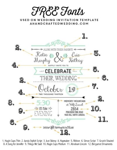 FREE Fonts to Use on Rustic or Vintage Inspired Wedding ...