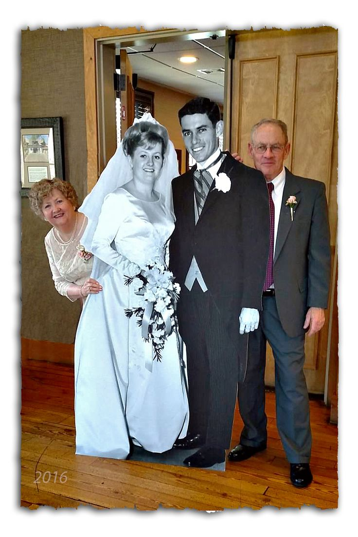 parents anniversary gifts wedding gifts for parents A 6 cutout wedding picture taken 50 years ago was a hit at our 50th