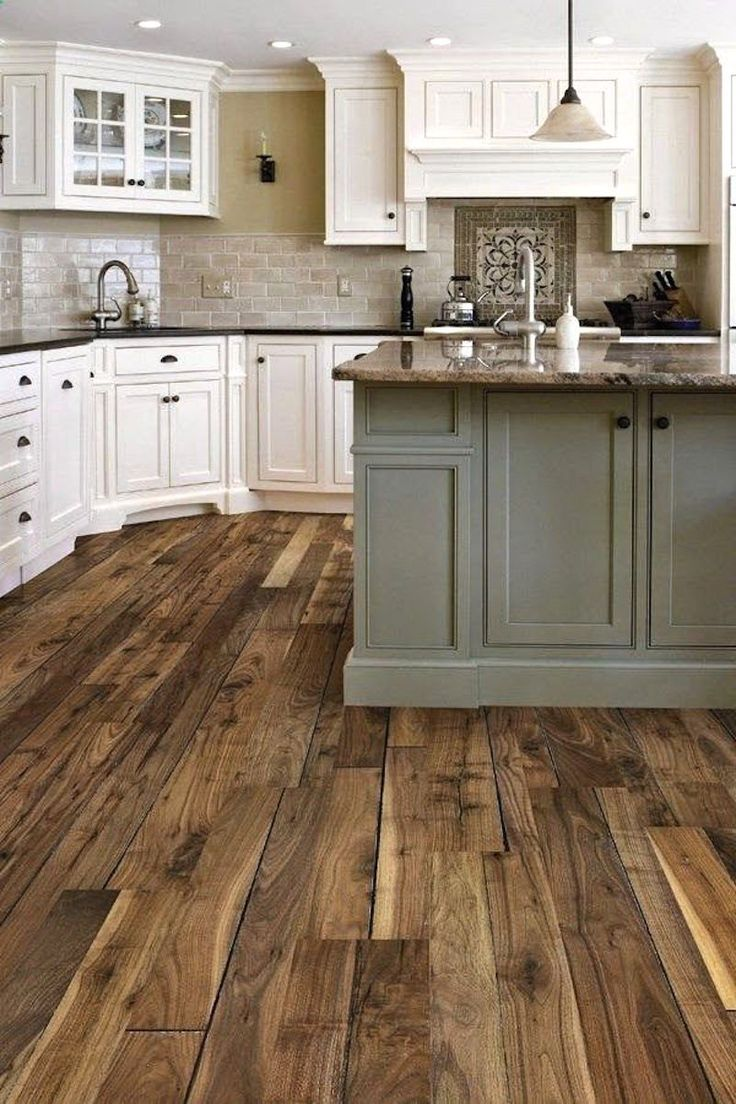rustic wood floors hardwood floors in kitchen That floor Pinterest Pinners picked this kitchen as their favorite Pinners all want