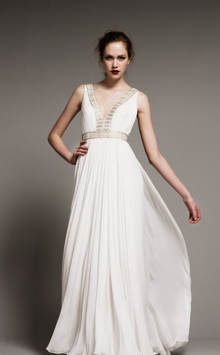 the greek wedding dress greek wedding dresses Wanna look like a Greek goddess Choose a Grecian styled wedding gown Flowing with airy silhouettes and from light fabrics these dresses are gorgeous