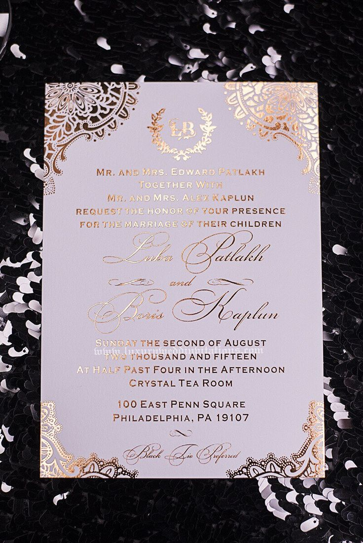 gold wedding invitations rose gold wedding invitations Find this Pin and more on Casamento Gold Foil Wedding Invitations