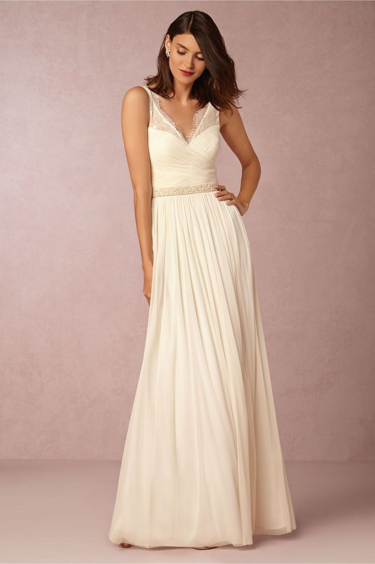 wedding dresses reception wedding dresses ivory lace reception dress or rehearsal dinner dress Fleur Dress in New at BHLDN