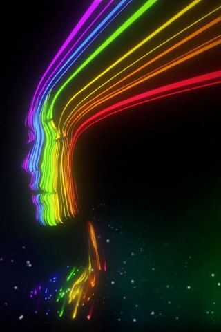 Cool Spectrum Girl iPhone Wallpaper HD. You can download this free iPhone Wallpaper for your ...