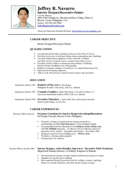 CV Template Artist | artdesigntemplates.com | CV Designs ...