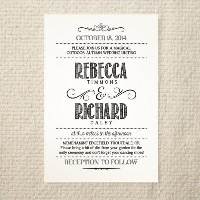 Handlettered Love / DIY Wedding Invitation Template ...