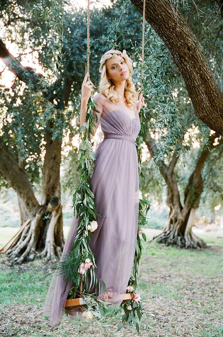lavenderlilac bridal party lilac wedding dress Rustic Lavender Bridesmaid Dresses by Jenny Yoo