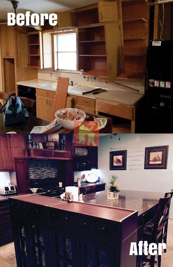 home remodeling kitchen cabinets cincinnati Kitchen makeover by Justin H Cincinnati Colerain OH We used Grand Haven
