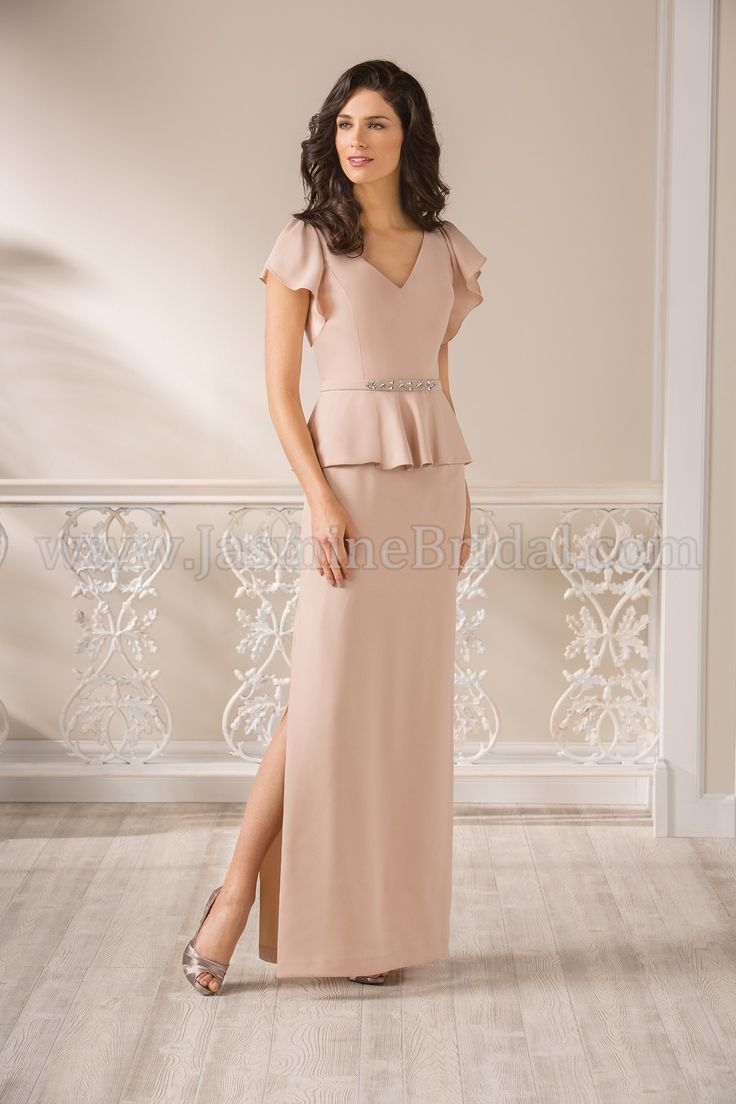 mother of the bridegroom new spring styles by mothers dress for wedding Sheath Column V neck Floor length Elastic Woven Satin Mother of the Bride Dress