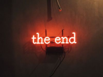 The end   red aesthetic tumblr   Pinterest   Neon and Red aesthetic
