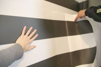 Removable peel-and-stick wallpaper--how-to by House Tweaking | home: miscellany | Pinterest ...