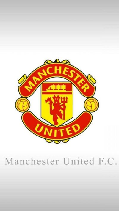Apple iPhone 6 Plus HD Wallpaper - Manchester United Logo in white background #appleiphone6plus ...