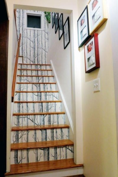 25+ best ideas about Wallpaper stairs on Pinterest | Shabby chic wallpaper, Textured wallpaper ...