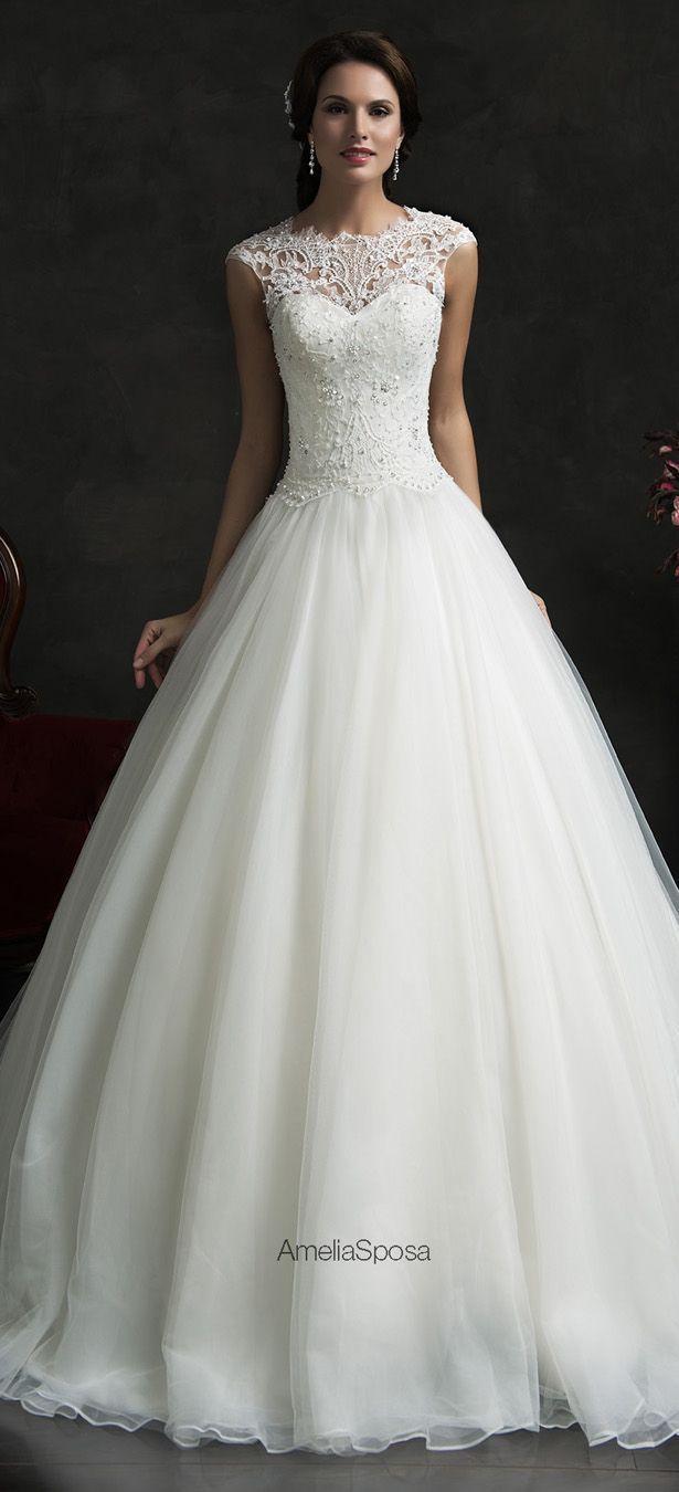 pretty wedding dresses gorgeous wedding dresses Amelia Sposa Wedding Dress Monica beautiful