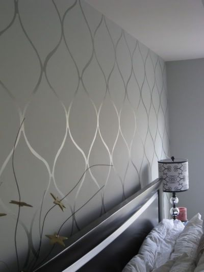 Wall stencil high gloss paint on matte base. Want. | For ...