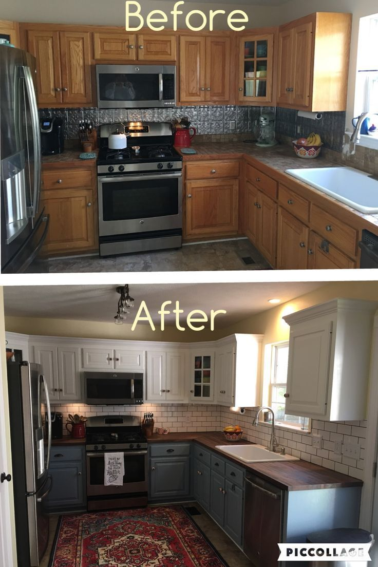 lowes kitchen cabinets kitchen cabinets lowes Two toned cabinets Valspar Cabinet Enamel from Lowes Successful kitchen updating Best cabinet