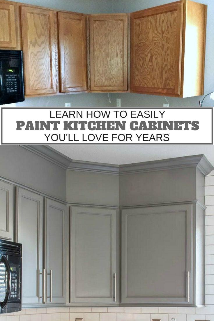 updating kitchen cabinets painted kitchen cabinets How to Easily Paint Kitchen Cabinets You Will Love