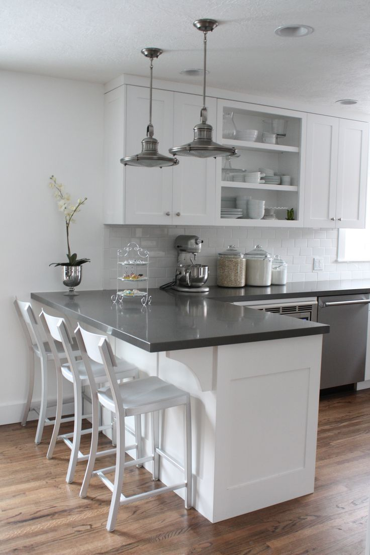 quartz countertops kitchen countertops options White cabinets subway tile quartz countertops